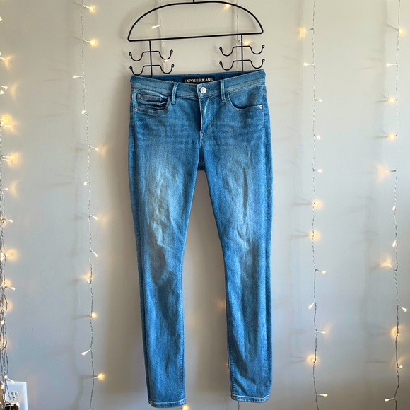 EXPRESS- Mid-Rise Skinny Jeans